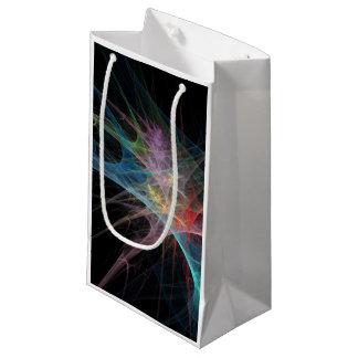 抽象美術の虹の氷 スモールペーパーバッグ