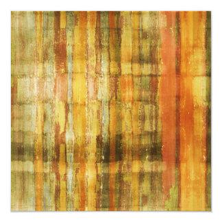 抽象美術の金黄色い招待状カード カード