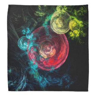抽象美術の銀河系の円 バンダナ
