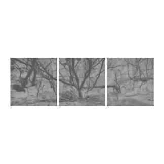 抽象美術の雪の塵の木 キャンバスプリント