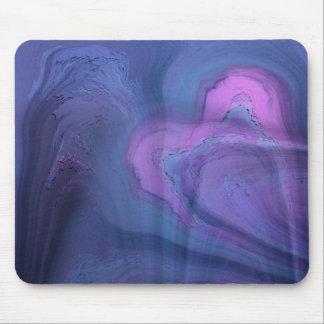 抽象美術の青い紫色のデザイン マウスパッド