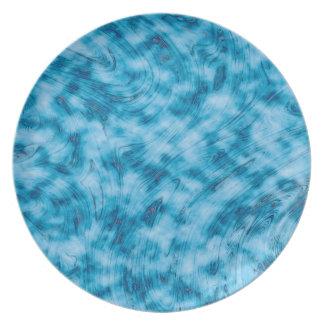 抽象美術の青および白い背景 プレート