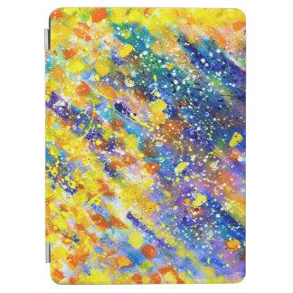 抽象美術の青の背景 iPad AIR カバー