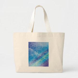 抽象美術はデジタル色、軽い形Stを振ります ラージトートバッグ