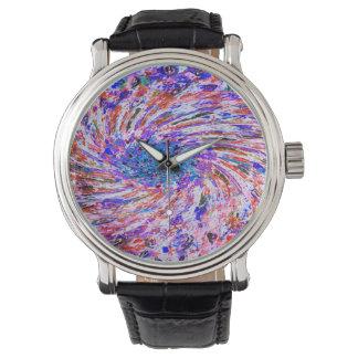 抽象美術は背景を落書きします 腕時計