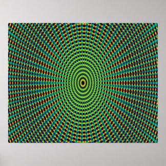 抽象美術パターン万華鏡のように千変万化するパターン ポスター