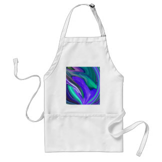 抽象美術紫色Nのティール(緑がかった色)の葉 スタンダードエプロン