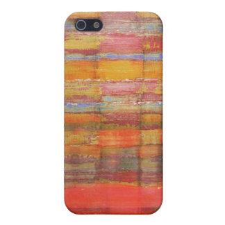 抽象美術色パターン iPhone 5 COVER