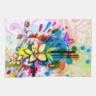 抽象美術26の台所タオル キッチンタオル