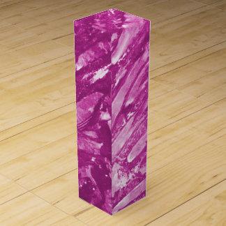抽象美術-ピンクのワイン用ギフトボックス ワインギフトボックス