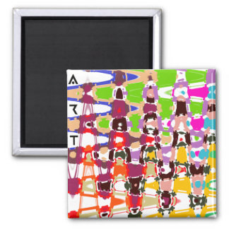 抽象美術-多彩の三角形及び形 マグネット