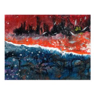 抽象美術-平衡 ポストカード