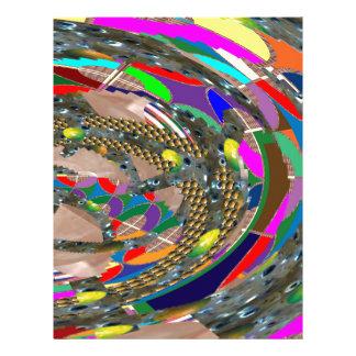 抽象美術: 競技場競技場展覧会はおもしろいを基づかせています レターヘッド