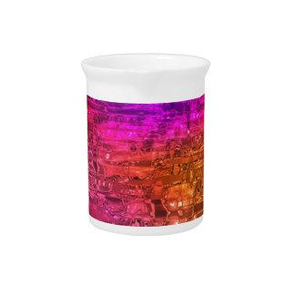 抽象美術、紫色のオレンジピンク ピッチャー