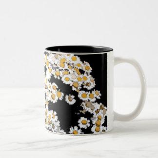 抽象芸術によっては|のマグが開花します ツートーンマグカップ