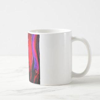 抽象芸術によって着色されるボトルのカーブ コーヒーマグカップ
