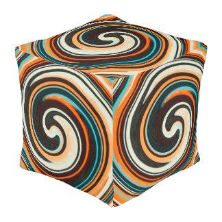 抽象芸術によって着色される渦巻の芸術の背景#42 プーフ
