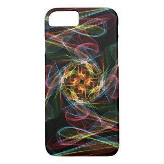 抽象芸術によって着色される炎 iPhone 7ケース