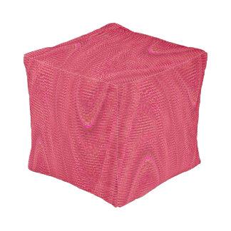 抽象芸術によって編まれる糸、ピンクスクエアPoufの座席 プーフ
