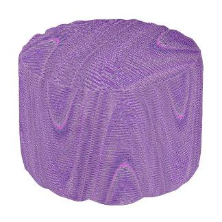 抽象芸術によって編まれる糸、紫色円形のPoufの座席 プーフ