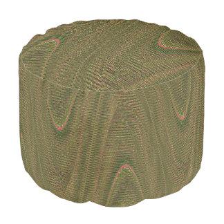 抽象芸術によって編まれる糸、緑円形Pouf Seat Lt プーフ