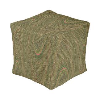 抽象芸術によって編まれる糸、Lt緑のスクエアPoufの座席 プーフ