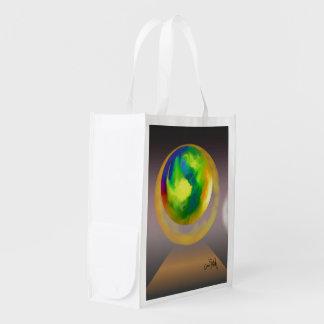 抽象芸術に上る球 エコバッグ