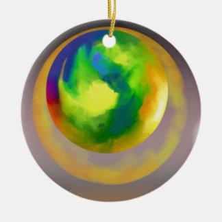 抽象芸術に上る球 セラミックオーナメント