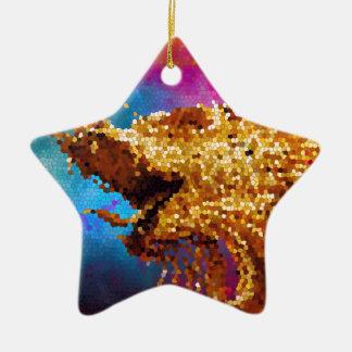 抽象芸術のステンドグラスの金ドラゴンの銀河系のモザイク セラミックオーナメント