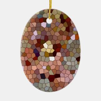 抽象芸術のステンドグラスの銅の銀の金属の硬貨 セラミックオーナメント
