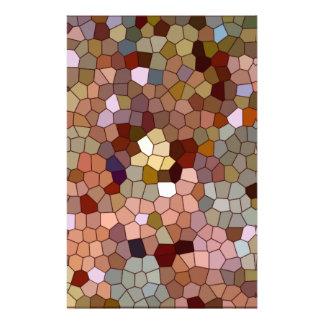 抽象芸術のステンドグラスの銅の銀の金属の硬貨 便箋