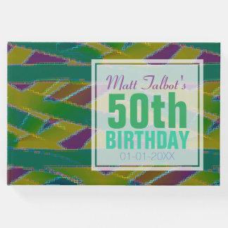 抽象芸術の形の第50誕生日の来客名簿 ゲストブック
