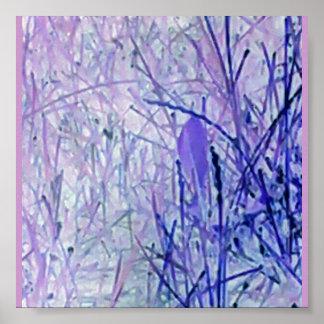抽象芸術の植物ポスター ポスター