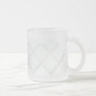 抽象芸術の正方形の透明なマグ フロストグラスマグカップ