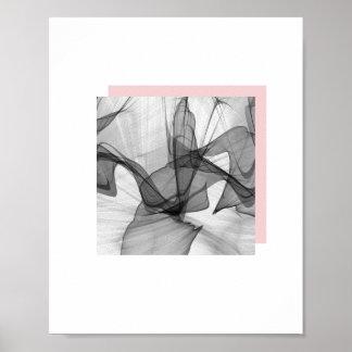 抽象芸術の正方形ポスター| 8x10 ポスター