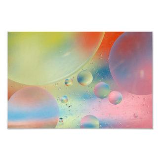 抽象芸術の泡ファインアートのプリント フォトプリント