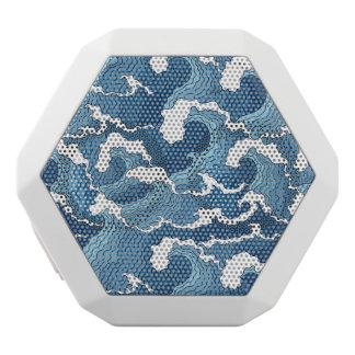 抽象芸術の波 ホワイトBluetoothスピーカー