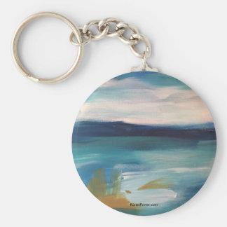 抽象芸術の波- Keychain キーホルダー