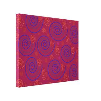 抽象芸術の渦巻 キャンバスプリント