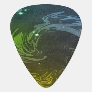 抽象芸術の渦巻 ギターピック