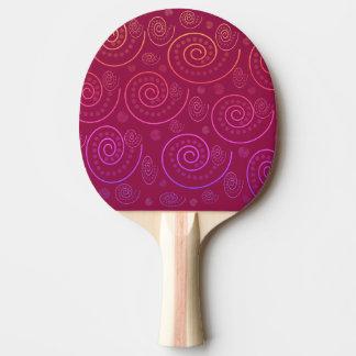 抽象芸術の渦巻 卓球ラケット