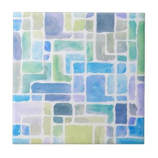 抽象芸術の色彩の鮮やかな水彩画の背景 タイル