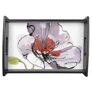 抽象芸術の色彩の鮮やかな花の背景3 トレー