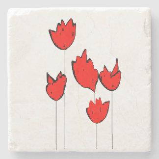 抽象芸術の花の大理石のコースター ストーンコースター
