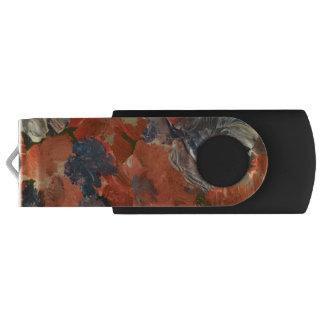 抽象芸術の花の旋回装置USBのフラッシュドライブ USBフラッシュドライブ