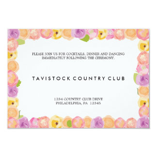 抽象芸術の花の結婚披露宴カード 8.9 X 12.7 インビテーションカード