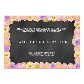 抽象芸術の花のChalkboardWeddingの披露宴カード カード