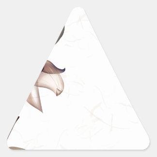 抽象芸術の花は色のピップを暖めます 三角形シール