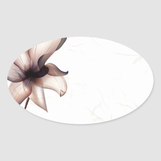 抽象芸術の花は色のピップを暖めます 楕円形シール