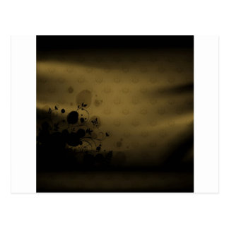 抽象芸術の花は色の青銅色のカーテンを暖めます ポストカード